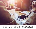 meeting of tax lawyer business... | Shutterstock . vector #1131808241