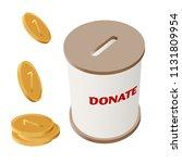 round donation money box vector ... | Shutterstock .eps vector #1131809954