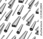 rolled metal products seamless... | Shutterstock .eps vector #1131812804
