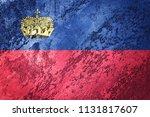 grunge liechtenstein flag.... | Shutterstock . vector #1131817607