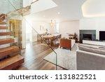 living room modern interior... | Shutterstock . vector #1131822521
