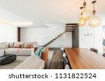 living room modern interior... | Shutterstock . vector #1131822524