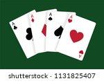 Four Aces  Casino Poker Cards