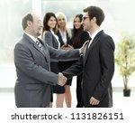 meeting of business people in...   Shutterstock . vector #1131826151