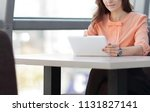 woman consultant using a...   Shutterstock . vector #1131827141