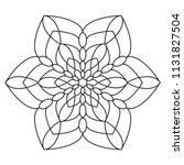 easy mandala  simple mandalas... | Shutterstock . vector #1131827504