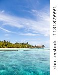 island in maldives with...   Shutterstock . vector #1131829991