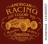 american racing team legendary...   Shutterstock .eps vector #1131830927