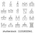set of castle related vector... | Shutterstock .eps vector #1131832061