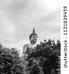 scenery of big golden buddha...   Shutterstock . vector #1131839459