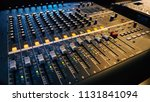 analog audio sound mixer... | Shutterstock . vector #1131841094