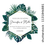 save the date tropical... | Shutterstock .eps vector #1131846881