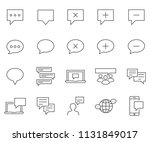 set of comment related vector... | Shutterstock .eps vector #1131849017
