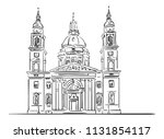 st. stephen's basilica ... | Shutterstock .eps vector #1131854117