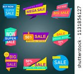 super sale banner  special... | Shutterstock .eps vector #1131856127