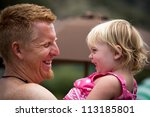 father and daughter laughing | Shutterstock . vector #113185801