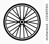 glyph beautiful bicycle wheel...   Shutterstock .eps vector #1131859301