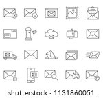 set of mail related vector line ... | Shutterstock .eps vector #1131860051