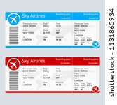 plane ticket template. airplane ... | Shutterstock .eps vector #1131865934