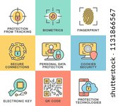icons of information protection.... | Shutterstock .eps vector #1131866567