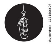 detailed feather silhouette in...   Shutterstock .eps vector #1131866609