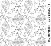 christmas vector seamless...   Shutterstock .eps vector #1131868745