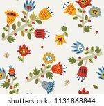 floral seamless pattern | Shutterstock .eps vector #1131868844