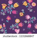 floral seamless pattern | Shutterstock .eps vector #1131868847