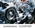 cut metal engine. visual layout. | Shutterstock . vector #113187409