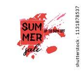 text summer sale  discount...   Shutterstock .eps vector #1131878537