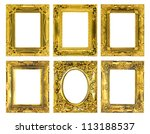 the antique gold frame on the... | Shutterstock . vector #113188537