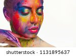 beautiful woman with bright... | Shutterstock . vector #1131895637