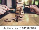 hands of executive cooperation... | Shutterstock . vector #1131900344