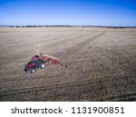 tractor and seeder  direct... | Shutterstock . vector #1131900851