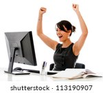 successful business woman with... | Shutterstock . vector #113190907
