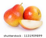fresh pears isolated on white... | Shutterstock . vector #1131909899