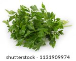 fresh parsley isolated on white ... | Shutterstock . vector #1131909974