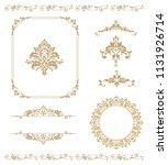 set of vintage elements. frames ...   Shutterstock .eps vector #1131926714