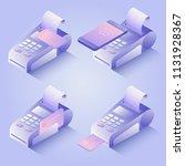 pos terminal payment methods ... | Shutterstock .eps vector #1131928367