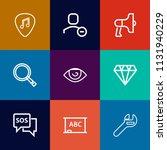 modern  simple vector icon set... | Shutterstock .eps vector #1131940229