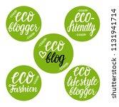 vector set eco fashion  blogger ... | Shutterstock .eps vector #1131941714