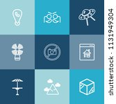 modern  simple vector icon set... | Shutterstock .eps vector #1131949304