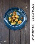 nordic cuisine. healthy... | Shutterstock . vector #1131950231
