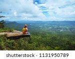 women asians travel relax in... | Shutterstock . vector #1131950789