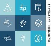 modern  simple vector icon set... | Shutterstock .eps vector #1131951971