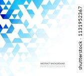 blue grid mosaic background... | Shutterstock .eps vector #1131952367