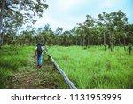 men asian travel nature. travel ... | Shutterstock . vector #1131953999