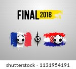 final 2018. set of realistic... | Shutterstock .eps vector #1131954191