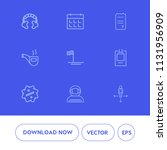 modern  simple vector icon set... | Shutterstock .eps vector #1131956909