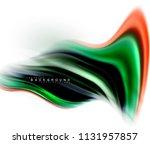 fluid liquid mixing colors... | Shutterstock .eps vector #1131957857